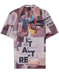 Daily Paper Kovan Collage Shirt - Paars