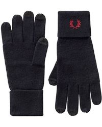 Fred Perry Knitted Gloves - Blauw