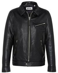 Schott Nyc Montana leather jacket - Schwarz