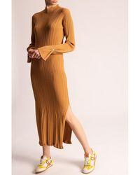 Holzweiler Dress with standing collar - Marron