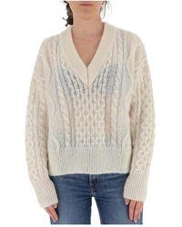 Laneus Cable-knit jumper - Neutre