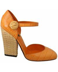 Dolce & Gabbana Mary Ankle Strap Shoes - Oranje