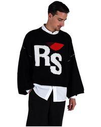 Raf Simons Oversized Rs Sweater - Zwart