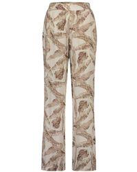 Simple Roya Leaf Trousers - Naturel