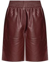 Samsøe & Samsøe Leather Shorts - Rood