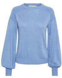 Inwear Yasmineiw Ballonärmel stricken - Blau