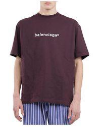 Balenciaga T-shirt With Logo - Paars