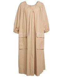 Erika Cavallini Semi Couture Dress P1sj04 11 - Naturel