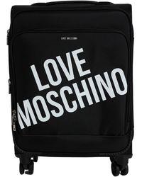 Love Moschino Travel Trolley - Zwart