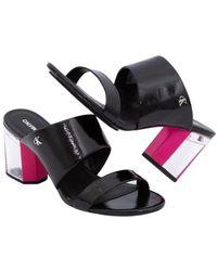 Calvin Klein Heel Two Straps Sandal - Zwart