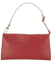 Louis Vuitton Epi Pochette Accessori Pelle - Rosso