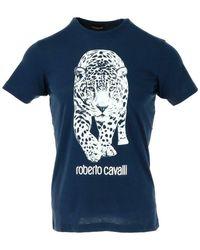 Roberto Cavalli T-shirt - Blauw