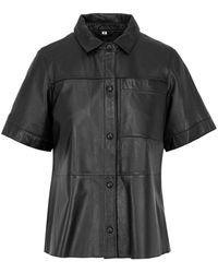 Oakwood Leatherjacket - Zwart