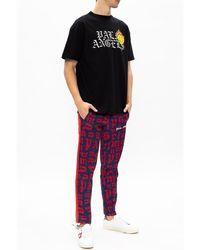 Palm Angels T-shirt Met Logo - Zwart