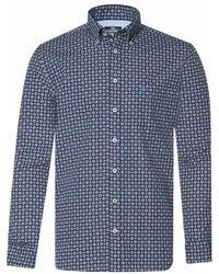 Campbell Shirt 059710 706 - Blauw