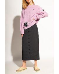 Raf Simons Wool sweater Rosa - Negro