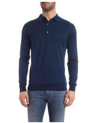 John Smedley Bradwell Shirt LS Azul