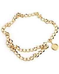 Chanel Vintage Coin Chain Belt - Orange