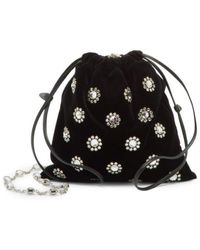 Miu Miu Starlight Velvet Bag - Zwart