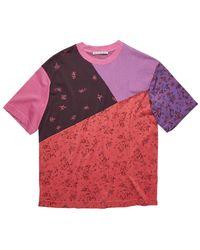 Acne Studios Extorr Floral Tshirt - Roze