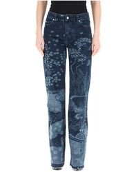 RED Valentino All-over printed jeans - Bleu