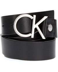 Calvin Klein Logo Belt - Zwart