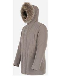 Herno Parka with fur hood Gris