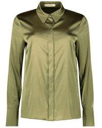 Dorothee Schumacher - Long Sleeve Satin Shirt - Lyst