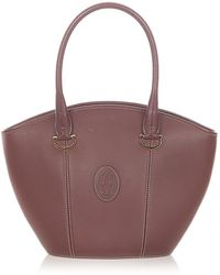 Cartier Must De Cartier Leather Shoulder Bag - Rood