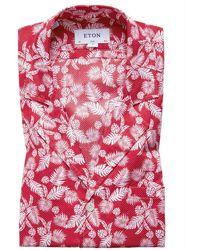 Eton Slim Fit Overhemd - Rood
