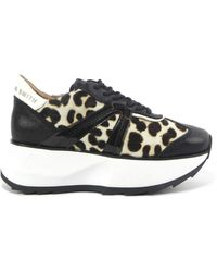 Alexander Smith Spotted Lace Shoes - Zwart