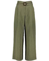 Silvian Heach Habeng Striped Pants - Groen