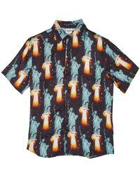 SSS World Corp Go Home Bowling Shirt - Bleu