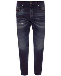 DIESEL Tepphar Distressed Jeans - Blauw