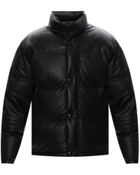 Yves Salomon Quilted Down Jacket - Zwart