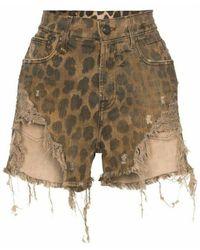 R13 Leopard Shorts - Bruin