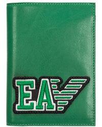Emporio Armani Men's Travel Document Passport Case Holder - Groen