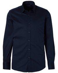 Antony Morato Overhemd Basis Slimfit - Blauw