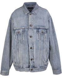 Balenciaga Comfort Fit Jacket - Blauw