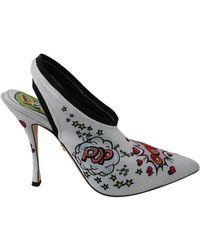 Dolce & Gabbana Wow Neopreen Stretch Pumps Schoenen - Wit