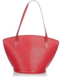 Louis Vuitton Tweedehands Epi Saint Jacques Pm Lange Riem - Rood