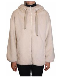 Herno Faux fur with hood Gi0124D-123541985 - Rose