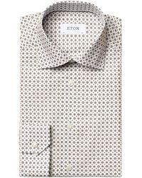 Eton - Medallion Print Signature Twill Slim Shirt - Lyst