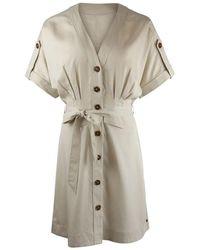 Scotch & Soda - Drapey Safari Dress - Lyst