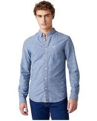Wrangler Down Shirt - Blau