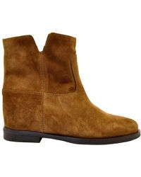 Via Roma 15 Leather Suede Ankle Boot - Bruin