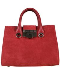 Jimmy Choo Mini Riley handbag - Rouge