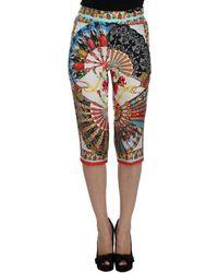 Dolce & Gabbana Silk Pants - Bleu