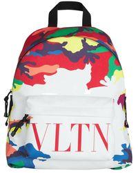 Valentino Logo camou 7 backpack - Blanco