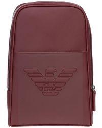 Emporio Armani Men's Rucksack Backpack Travel - Rood